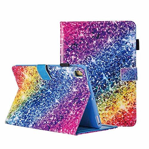 iPad 9.7 2018/2017 Hülle, iPad Air 2 / Air / iPad Pro 9.7 Schutzhülle Bling Bunte PU Leder Flip Clever Hülle [Auto Schlaf/Wach] für Apple iPad 9.7 2018/2017/Air 2/Air/Pro 9.7 2016,Regenbogen-Diamant (Apple 1 Ipad Hüllen Air Mädchen Für)