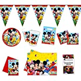 Folat Micky Maus Partypaket Disney 50-teilig Kinder Geburtstag Kinderparty