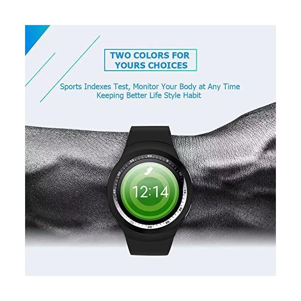 Fitness Tracker,Gearlifee IP68 Waterproof Reloj pulsera con monitor de ritmo cardíaco, presión arterial, oxígeno en la sangre, monitor de sueño, SMS, podómetro para iPhone Android(Banda de acero) 7