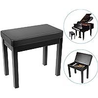 Neewer Klavier Bank Hocker Keyboard Bank-Gepolstertes Kissen Komfort mit Musikaufbewahrung, Eisenbeine für Keyboard…
