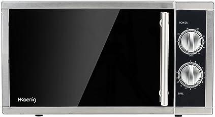 H.Koenig VIO7 Mikrowelle mit Grill / 9 Programme / Kapazität 23 L / 1000 W Leistung Grill / 900 W Leistung Mikrowelle / silber