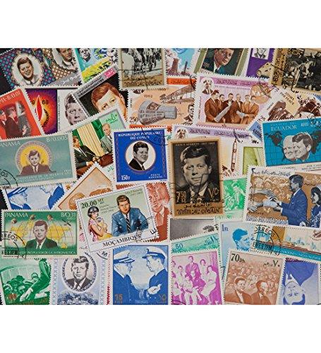 Goldhahn 50 Kennedy Briefmarken für Sammler -