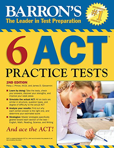 Barron's 6 ACT Practice Tests - Act-test Barron