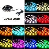 TEQIN 100CM Wasserdicht IP65 5050 RGB Streifen Lichter USB Betrieben LED TV Hintergrundbeleuchtung Bias Beleuchtung Kits für Handwerk Hobby, HDTV, Kulisse Vorhang