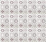 infactory Fliesendekor-Aufkleber: Selbstklebende 3D-Bordüre-Fliesenaufkleber, grau, 30 x 20 cm, 15er-Set (Deko-Folie)