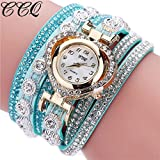 Bluestercool Women Girls Metal Strap Watch (CCQ-K)