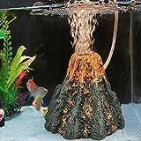 YUYOUG_Aquarium Volcano Form & Air Bubble Stein Sauerstoff Sauerstoff Pumpe Air Bubble Air Drive Fisch Tank Ornament Decor large-16* 5* 11cm