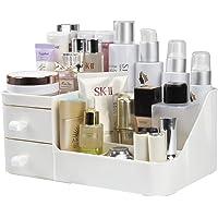 Rangement Maquillage, Organisateur de Cosmétiques avec 2 Tiroirs, Boîte à Bijoux et Support Cosmétique Rangements pour…