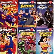 Superhero Collection - Superman Versus Bizarro / I Am Superman / Spider-man Versus the Scorpion / I Am Batman / Batman Neet the Super Heroes / Wonder Woman (I Can Read, Level 2) by Chris Strathearn (2010-01-01)