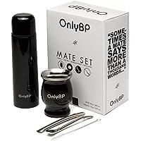 OnlyBP - Kit de Mate Argentin Yerba, comprenant 2 bombilla, des thermos, une brosse de nettoyage et une tasse en acier…