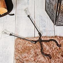 antico stile veneziano in vetro con manico in metallo pinze da camino–insolito tradizionale set camino pinze per legna e carbone brucia camini, stufe e caminetti–ideale regalo natalizio–Great Anniversary present–L60CM