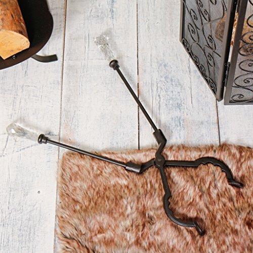 Venezianisches Glas, antik-Stil behandelt Metall Kamin Zange–Außergewöhnliche Traditionelle Kamin Werkzeug Set Zange für Log und Kohle Kamine, Kaminöfen und Kaminsims–Ideales Geschenk für Einzüge–Tolles Jahrestag Geschenk B–L (Gusseisen-werkzeug-set)