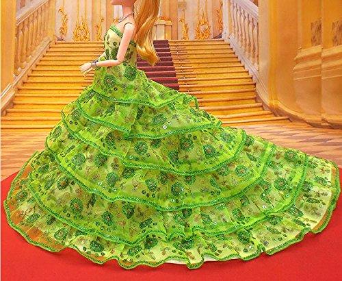 Youvinson Verschiedene Handmade Brautkleider und Kleider für Barbie-Puppen (Grün)