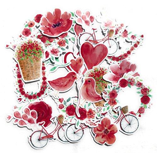 Navy Peony Aufkleber Herzen Valentines Wahre Liebe Deko   Sticker set   Sticker Rosa   Handytaschen   Deko Sticker (32 Stück) (Valentines Day Pack Von Karten)