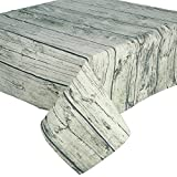 Legno Sala da pranzo panno arredamento migliore oblungo polvere Tovaglia copertura tavolo Retro cotone-lino vintage (140*200cm)