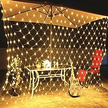 WYBAN 3 * 2M Blanco Cálido 200 LEDs Malla Cortina de Luz LED Iluminación Luces Decorativas Interior Exterior Cadena de Lámparas Ideal para la decoración de Partido/bodas/Cumpleaños/Año Nuevo/fiestas