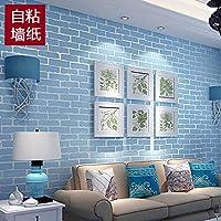 Papel Tapiz Autoadhesivo Papel Tapiz de ladrillo estéreo 3D Pegatina de Dormitorio Papel Tapiz Impermeable - 53cmx5m