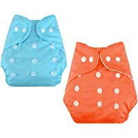 CuidAdo Adjustable Cotton Pocket Diapers & Reusable Baby Washable Cloth Diaper Nappies for Babies, Infants, Toddlers…