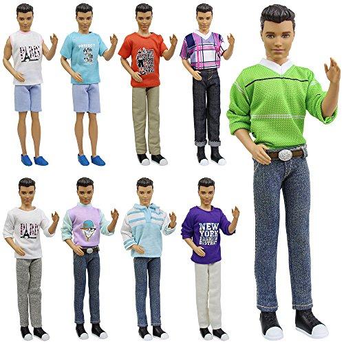 7055ea329 ▷   TIENDA GAMER   🥇 ZITA ELEMENT Ken Barbie Ropa 5 Fashionista Trajes de  Ropa de Moda Casual   Traje para Barbie Novio Ken Muñeca y Otras Muñecas de  12 ...