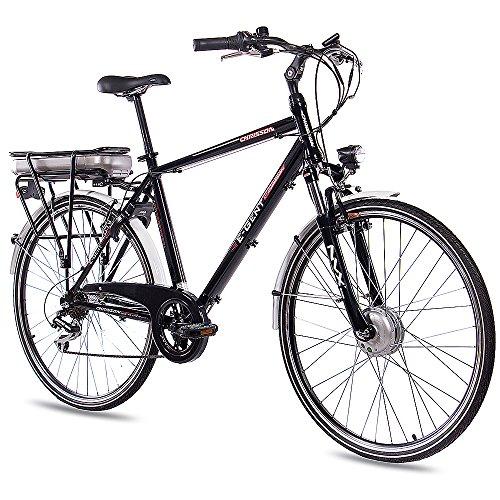 "CHRISSON 28"" Zoll CITYRAD ALU Fahrrad E-Bike PEDELEC E-Gent mit 7G Shimano schwarz 53cm- 71,1 cm (28 Zoll)"
