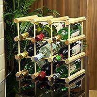 9 bottiglia di vino, in legno di pino, per bottiglie da 75 cl, con bottiglia di vino, in legno - Arredamento - Confronta prezzi