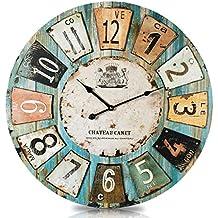 Orologio Orologio da parete romanticismo paese casa 60cm Vintage antico Look II 73