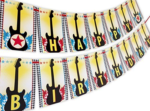 Rock Star Happy Birthday Banner by POP parties (Rockstar Birthday Happy)