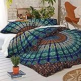 Mandala Tröster Psychedelic Bettbezug Doppel Bettwäsche werfen indische Bettbezug & Kissen Fall böhmischen Wurf Bettbezug Größe 80 von 50 Zoll