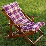 POLTRONA SEDIA SDRAIO HARMONY RELAX (BORDEAUX) in legno pieghevole cuscino imbottito soggiorno cucina giardino salone divano immagine