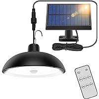 Lampes Solaires Exterieures, 78LED 4 Mode Lampe Suspendue Solaire Exterieur avec Capteur de Mouvement, TéLéCommande, 360…