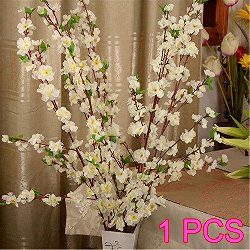 Newpointer Künstlicher Kirschbaum, Pfirsichblüten, Seidenblumen, Heim-Dekoration, Weiß