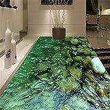 Lvabc Benutzerdefinierte Bodenbelag Wandbild Tapete Hd Natürliche Landschaft Stein Wasser Badezimmer Küche Boden Aufkleber Malerei Pvc Wasserdichte Tapete-120X100Cm