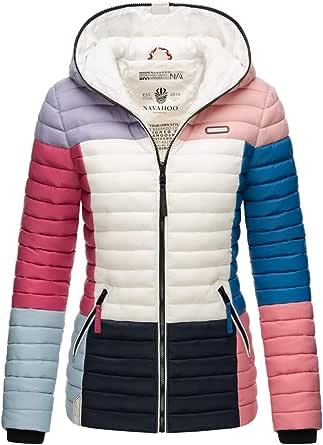 Navahoo Damen Jacke Steppjacke Übergangsjacke gesteppt Colour Blocking B841