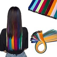 SEGO Extension Clip Capelli Colorati 10 Ciocche Extensions Colorate da Donna Bambina 55cm per Feste Cospaly Set da Multi…