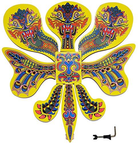 Vogelschießen - Drache / 3 Köpfen bunt 47 cm * 51 cm - Drachenschießen chinesisch