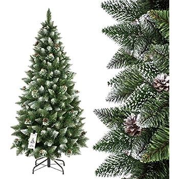Fairytrees weihnachtsbaum k nstlich fichte natur weiss - Arbol de navidad carrefour ...