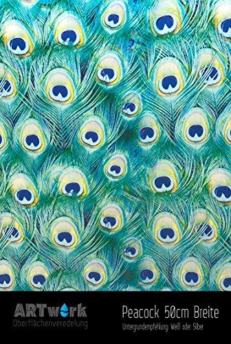 Preisvergleich Produktbild Wassertransferdruck WTD Design Folie ARTwork Peacock 50cm Breite