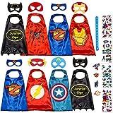 Dropplex Superhelden Kostüm Für Kinder - Kleinkind Superhelden Party Outfit - Spielzeug Für Jungen Und Mädchen - 8 Capes Und Maske - Im Dunkeln Leuchtendes Logo