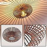 Deckenleuchte Ovari aus Metall in Kupferfarben - Extravagante Lampe mit auffälligem Schirm und Lichteffekten an der Decke - 1 x E27-Fassung - Zimmerlampe für Wohnzimmer - Flur - Dielen - Schlafzimmer