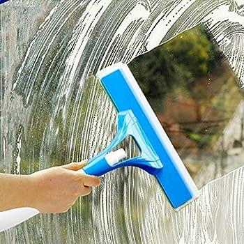 GNEY 3-in-1 ABS Plastic Spray Type Glass Wiper Shave Car Window Cleaner Brush (15 x 26 x 9 cm, Random Colour)