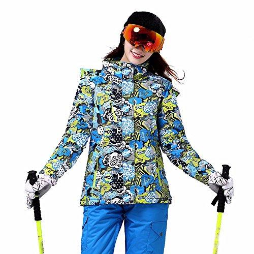 Women's outdoor vestes coupe-vent imperméable hiver ski femmes chaudes a une paire de Andes manteau snowboard