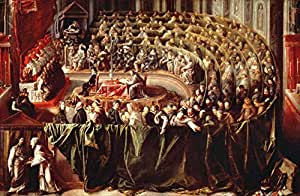 "Reproduction d'Art: Galileo Galilei ""Galilei before the Inquisition"" 109 x 71"