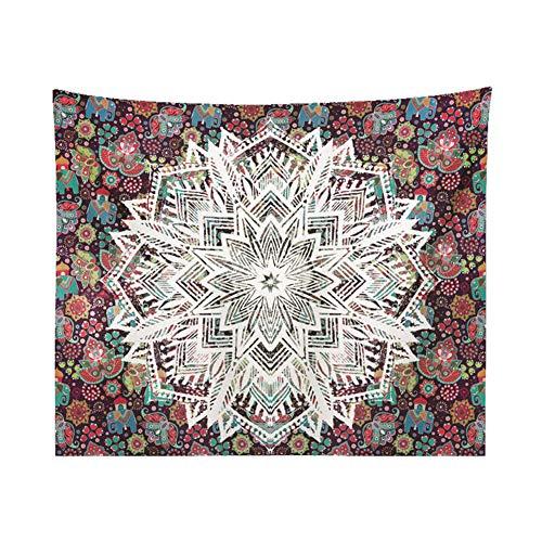 Topdo 1 Pieza Tapiz de Mandala con Colgante Decorativo de Pared con Ta