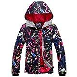 Damen Skijacke warm Jacke gefüttert Winter Jacke Regenjacke Schwarz 9638