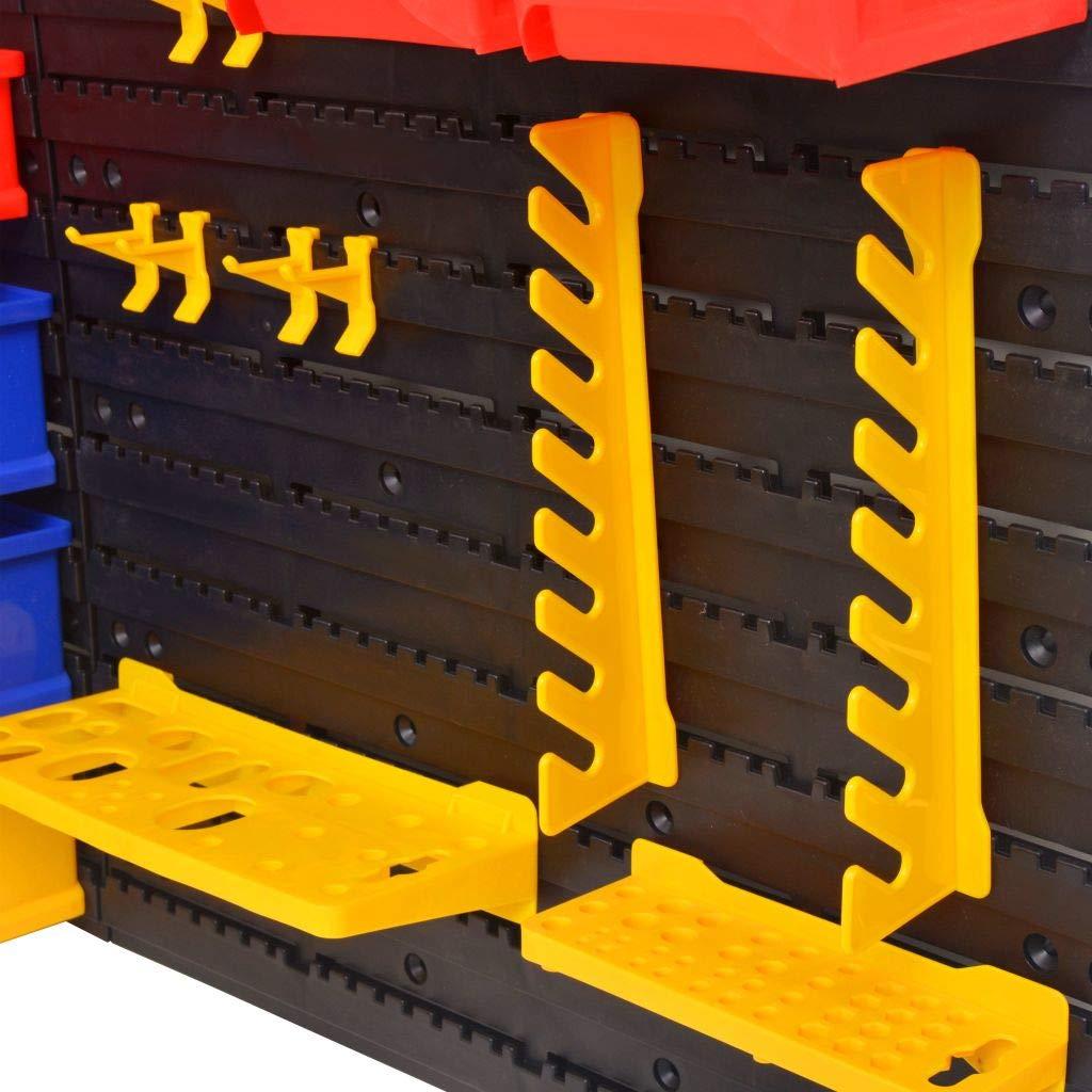 Tidyard Caja de Almacenamiento Organizador de Herramientas Portaherramientas Est/ático para Taller Estanteria de Pared para Talleres Garajes y Galpones Pl/ástico