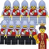 LEGO Castle, Kingdoms, Ritter: Armee mit 2 x 5 Löwenritter mit Speeren und Hellebarden und Königin, Set mit 11 Figuren - LEGO