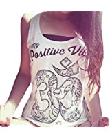 Amlaiworld Frauen im Sommer lockere ärmellos lässig Tank T-Shirt Bluse Tops Weste