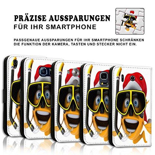 Wallet Book Style Flip Handy Tasche Case Schutz Hülle Schale Motiv Etui für Apple iPhone 6 / 6S - Variante UMV19 Design12 Design 11