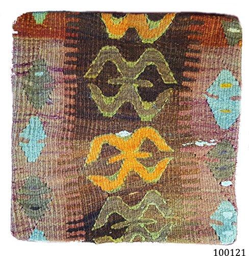 NEU. 100% Wolle Luxus Türkisch Marokkanische bunten Kelim Kissen 40,6cm/40cm Code: 100138
