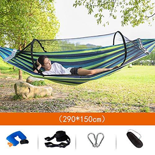 Home Cradle (JYDC Doppel Hängematte Outdoor Schaukel Stuhl Doppel Moskitonetz Schlafzimmer Student Adult Cradle Home Schlafsaal Tragbare Belüftung 290 × 150 cm Unterstützung 280 KG,a)